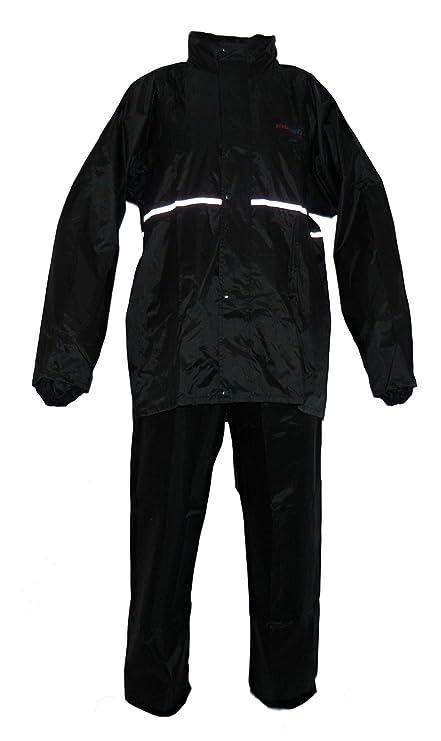 Protectwear RK-RS-11-L Traje de Lluvia para Motocicleta, Negro, Talla L