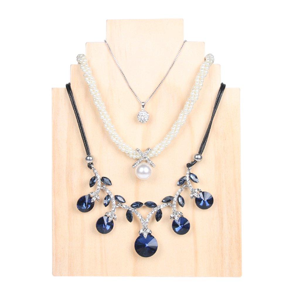 Bocar Natural Wood Necklace Display Stand Organizer Holder(MT-XL)
