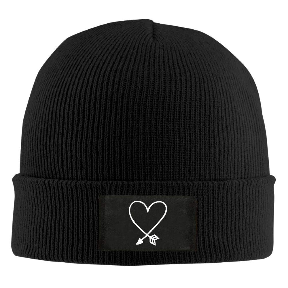 Adult Unisex Valentines Day Arrow Heart Casual Wool Cap