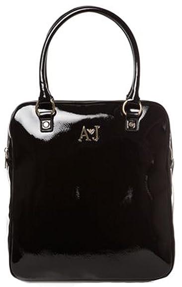 1e2e8e03d39b Armani Jeans Women s Tote Bag Black Patent  Amazon.co.uk  Shoes   Bags