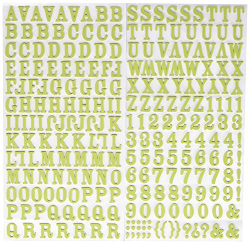 (American Crafts Thickers Foam Letter Stickers, Rockabye Leaf)