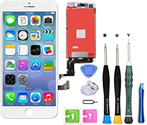 Premium Screen Replacement Compatible with iPhone 7 Plus 5.5 inch Full Assembly -LCD Touch Digitizer Display Glass Assembly with Tools, Fit Compatible with iPhone 7 Plus (White)