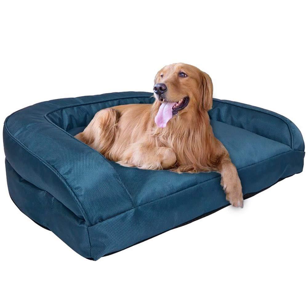 整形外科ペットの犬用ベッド レジャーソファー オックスフォード生地 高反発PP綿パッド 取り外し可能できれい 犬や猫に適している、青、大(40キロ) B07MX4LH2G blue Medium Medium|blue