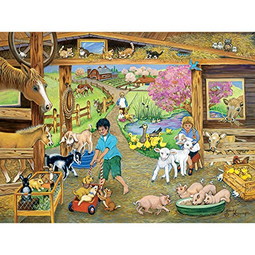 Bits and Pieces - 500 Piece Jigsaw Puzzle for Adults - Barnyard Babies 500 - 500 pc Jigsaw by Artist Sandy Rusinko