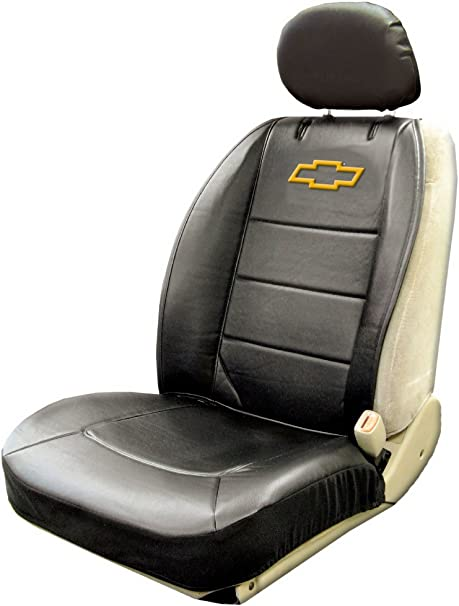 Chevy Bowtie Universal Sideless Seat Cover w//Head Rest