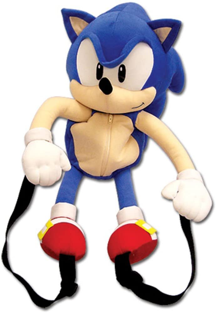 Amazon.com: GE Animation Sonic Classic Sonic Plush Backpack: Toys & Games