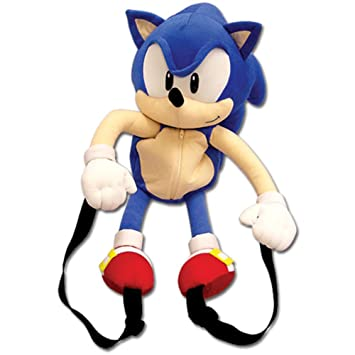 "Sonic The Hedgehog de Sonic 20 ""Mochila de caracteres de peluche"