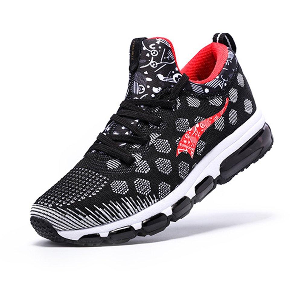 ONEMIX Air Zapatillas de Running para Hombre Zapatos para Correr y Asfalto Aire Libre y Deportes Calzado Zapatillas de running Zapatos casuales 8.5 D(M) US 10.43inch|Rojo negro
