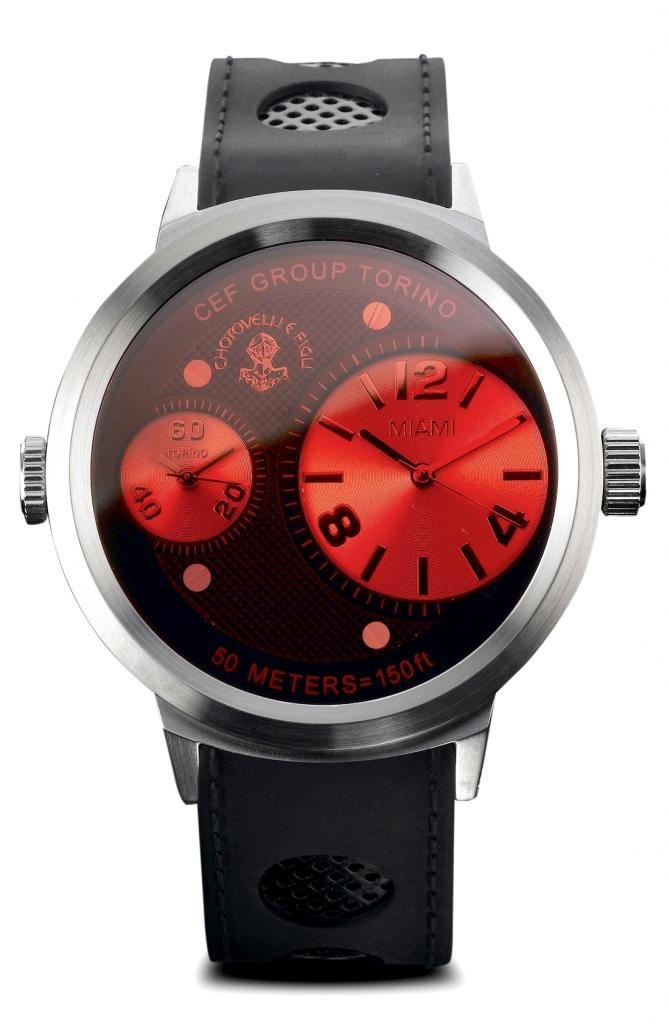 Chotovelli Men Big Face Casual Fashion Watch - Dual time Analog Display Silicone Strap