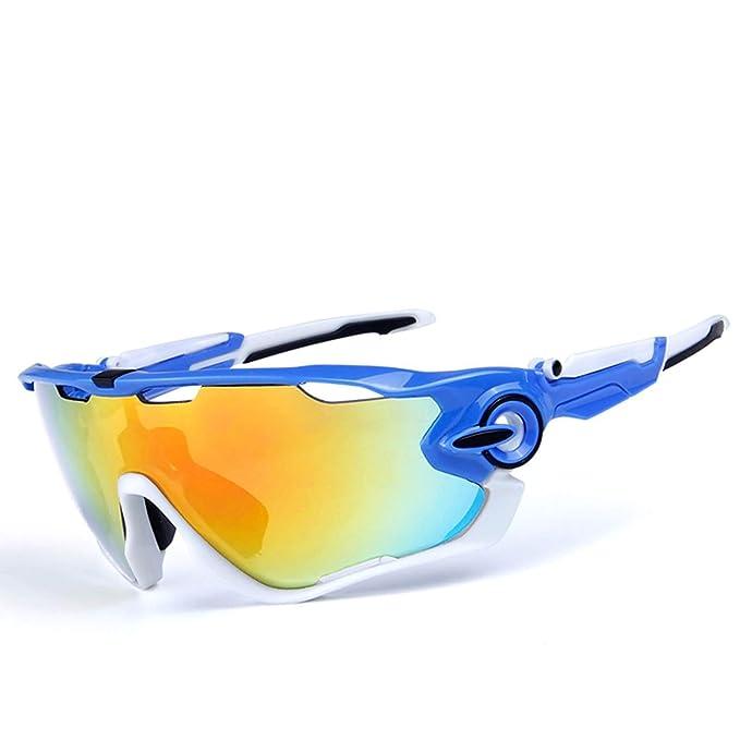 Daesar Gafas de Sol Azul Blanco Negro Blanco Gafas Moto ...