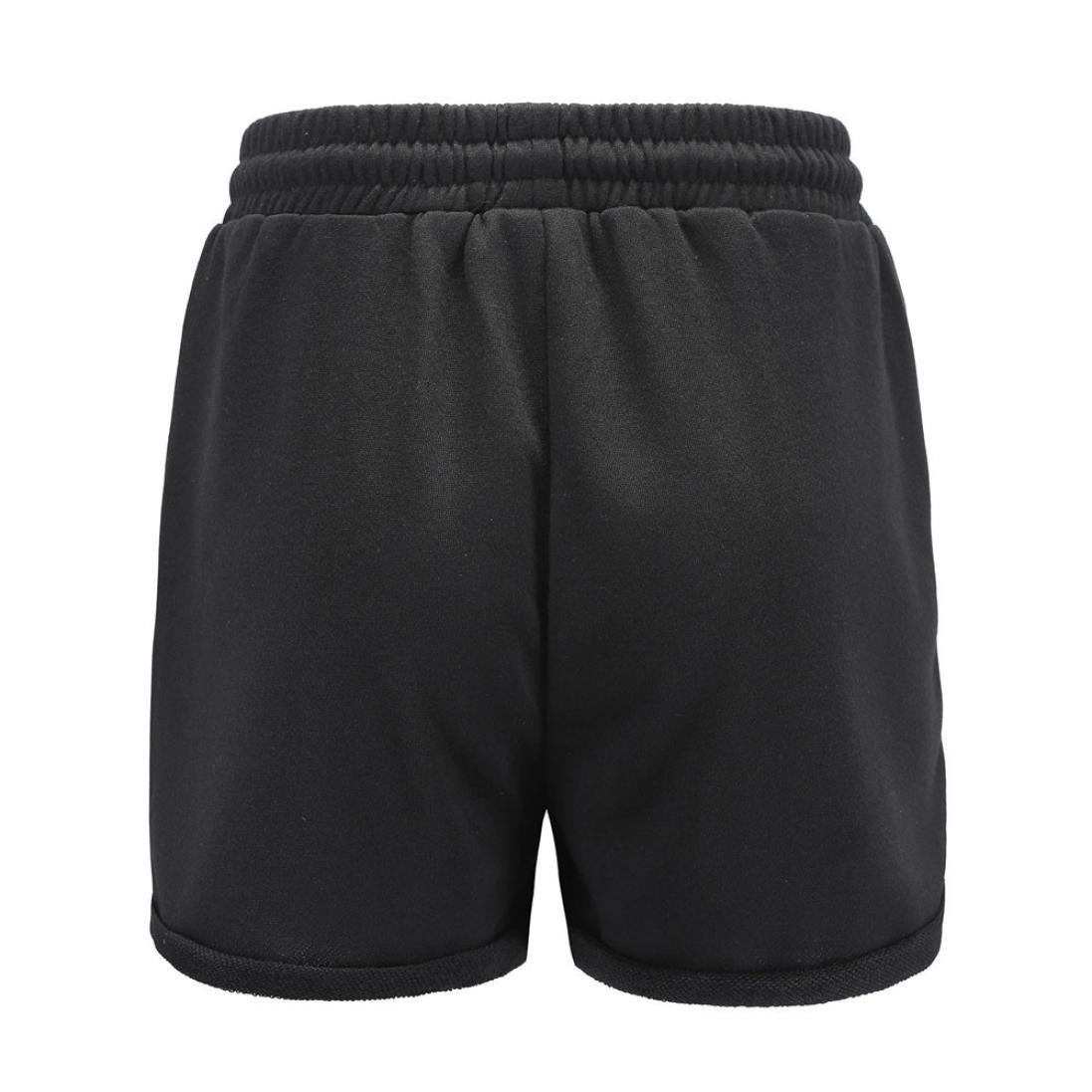 ♥-♥-♥-Pantalones Cortos para Mujer, RETUROM Deportes de Ocio de Las Mujeres de Verano Pantalones Cortos de Cintura con Cordón Y Cordones para Mujer: ...