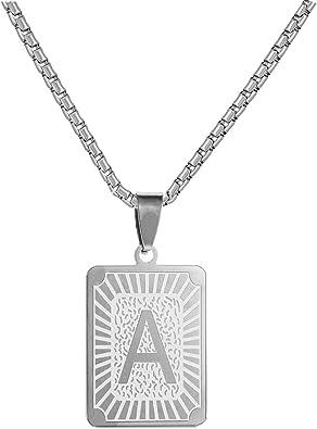 Black and White square pendant in silver