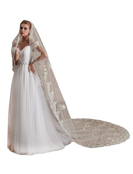 EllieHouse L78 velo largo de encaje para novia 551541dc3be
