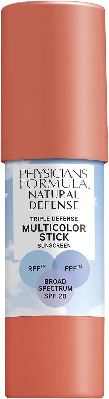 Physicians Formula Natural Defense Triple Defense Multicolor Stick with SPF 20, Warm Coral