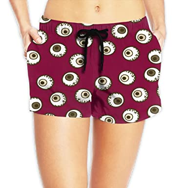 484631c1d1 Louise Morrison Halloween Monster Eyeball Womens Boardshort Swim Trunks  Beach Shorts at Amazon Women's Clothing store: