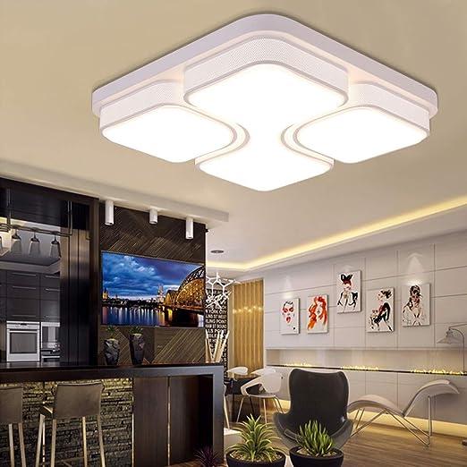 MYHOO 48W LED Deckenlampe Deckenleuchte Warmweiß Modern Wohnzimmer ...