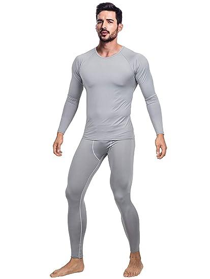 c399a9c545e8 Amazon.com: DRSKIN Men's Ultra Soft Thermal Microfiber Fleece Lined  Compression Underwear Long Johns Set Shirts Pants Top Bottom: Clothing
