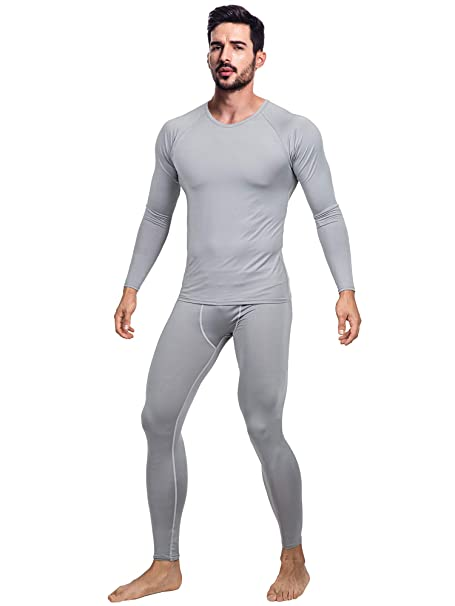 7b9ac6ce65b DRSKIN Men s Ultra Soft Thermal Microfiber Fleece Lined Compression Underwear  Long Johns Set Shirts Pants Top