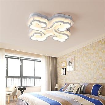 ZSQ acrylique led éclairage chambre à coucher salon télécommande ...