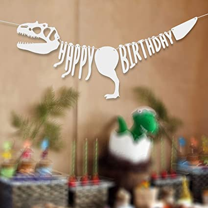 Amazon.com: KUDES - Pancarta de dinosaurio para cumpleaños ...