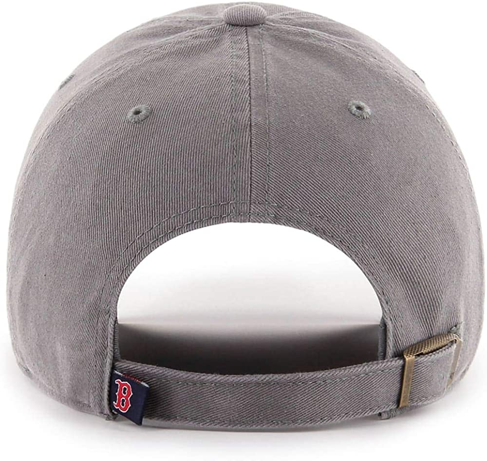 47 Brand Boston Red Sox Clean Up Hat Cap Dark Gray//Red