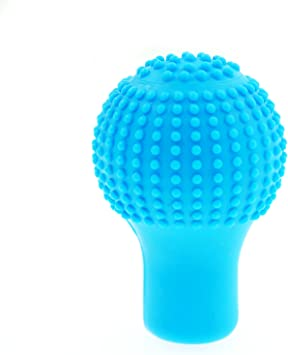 uxcell Blue Soft Silicone 5 Speed Car Round Shift Knob Gear Stick Cover Protector