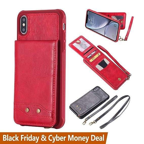 iphone xr detachable wallet case strap