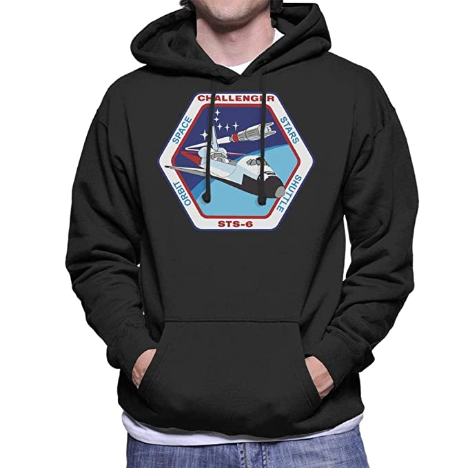Nasa STS 6 Space Shuttle Challenger Mission Patch Mens Hooded Sweatshirt