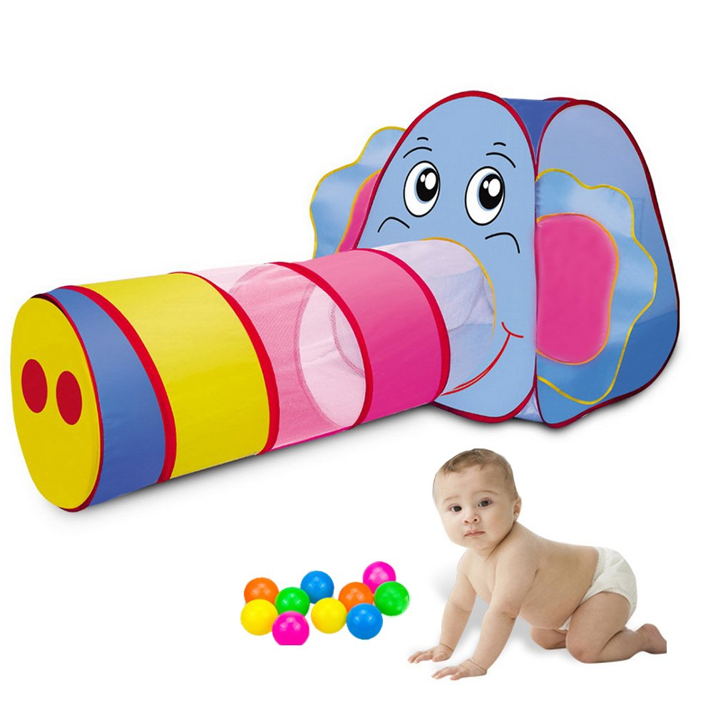 Sonyabecca Play Tent Tunnel Playhouse for Kids Girls/BoysPop Up Play Tent Crawl Tunnel & Ball Pit