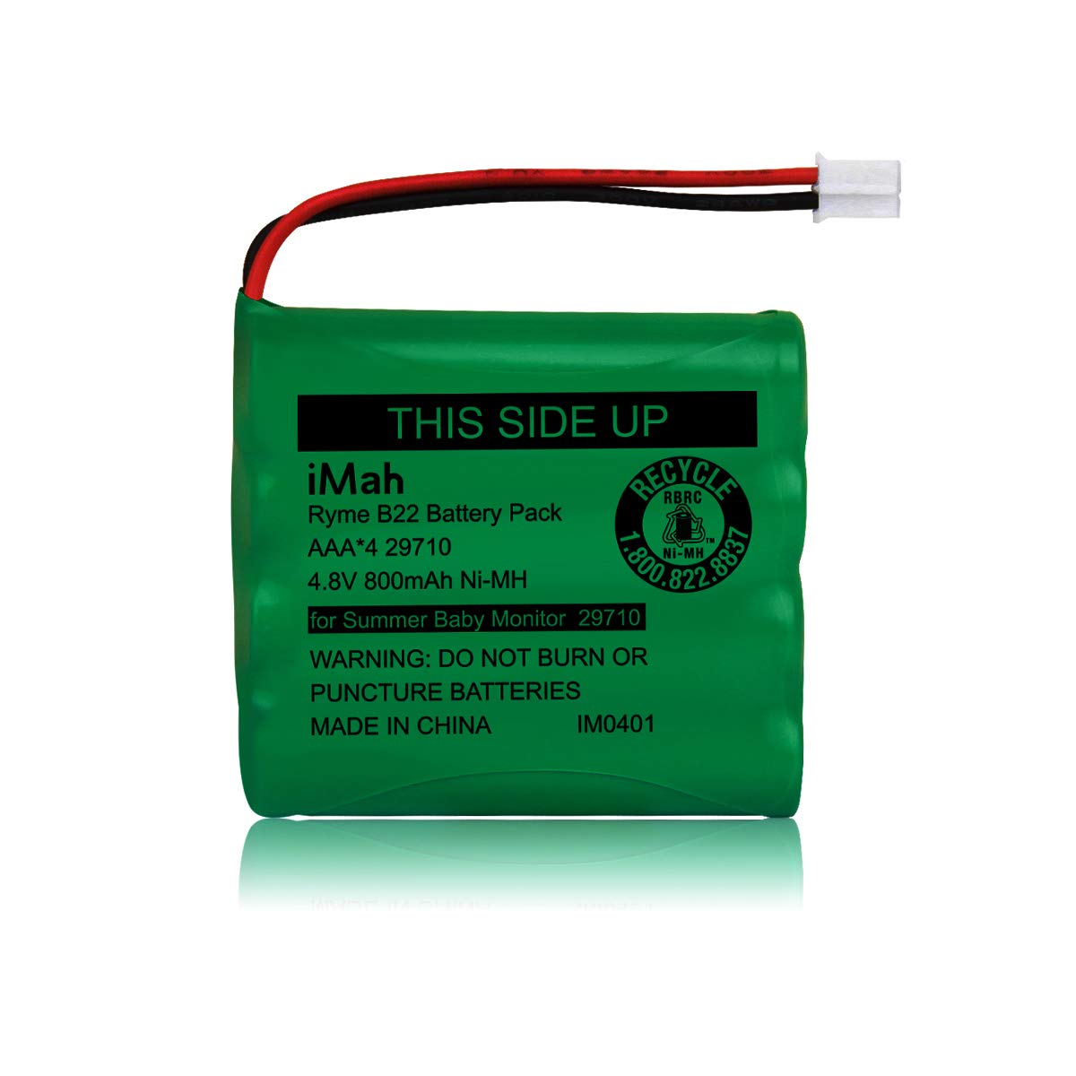 iMah Replacement 29580-10 Battery for Summer Infant Baby Video Monitor 29580 29590 29610 29620 29630 Ni-MH AAA 4.8V 800mAh