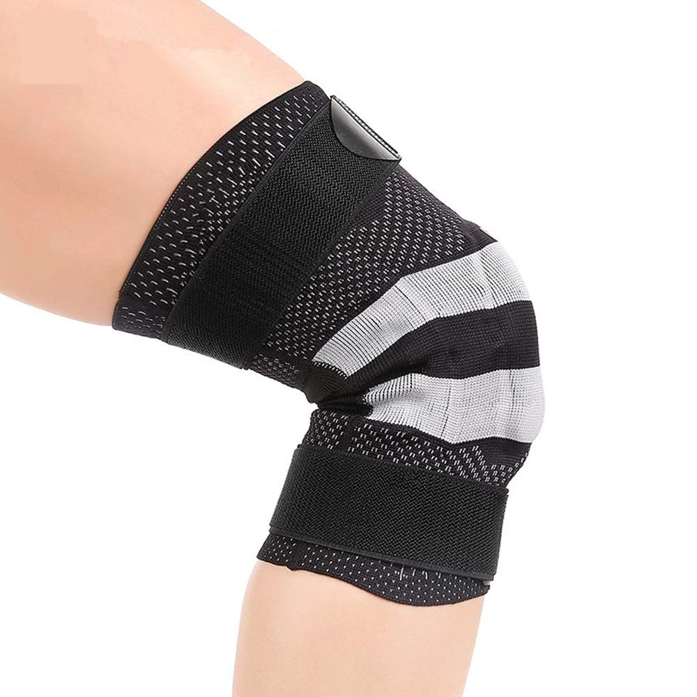 YHDD 通気性のランニングニーパッドスポーツハイキング膝パッド保護装備男性と女性サイクリングスケートスキーライディングバスケットボールバドミントンサッカー  XXL