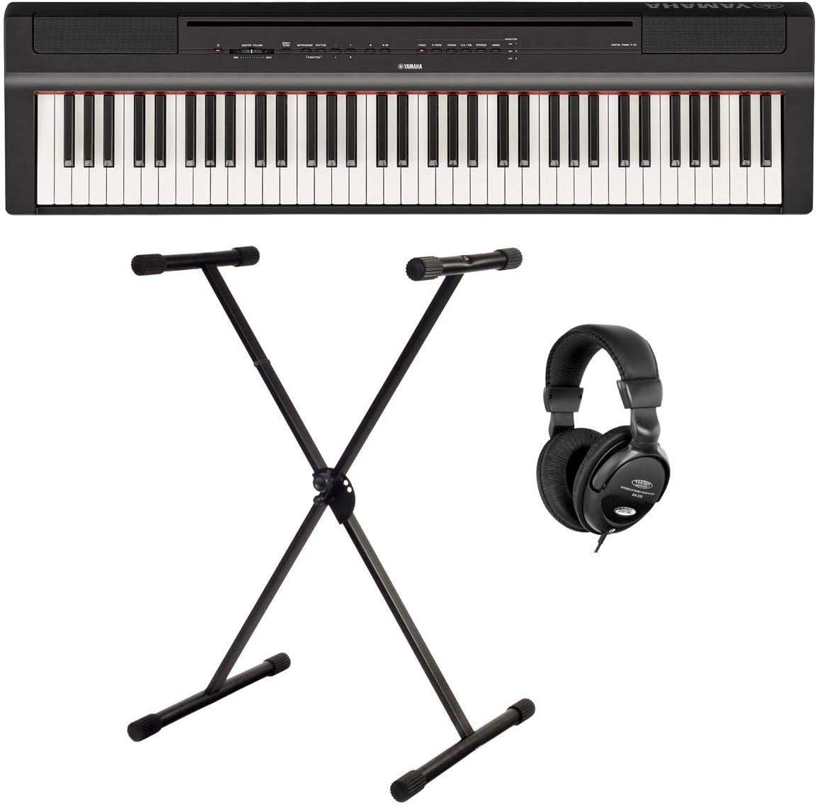 Yamaha P-121B Stage Piano Set (73 teclas dinámicas de pulsación sobre teclado (GHS), bajos internos y función de mesa EQ, incluye soporte para teclado ...