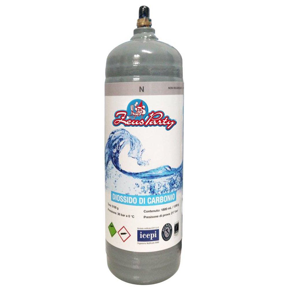 Bombola CO2 1200 g monouso per gasatori domestici Euro Ossigeno