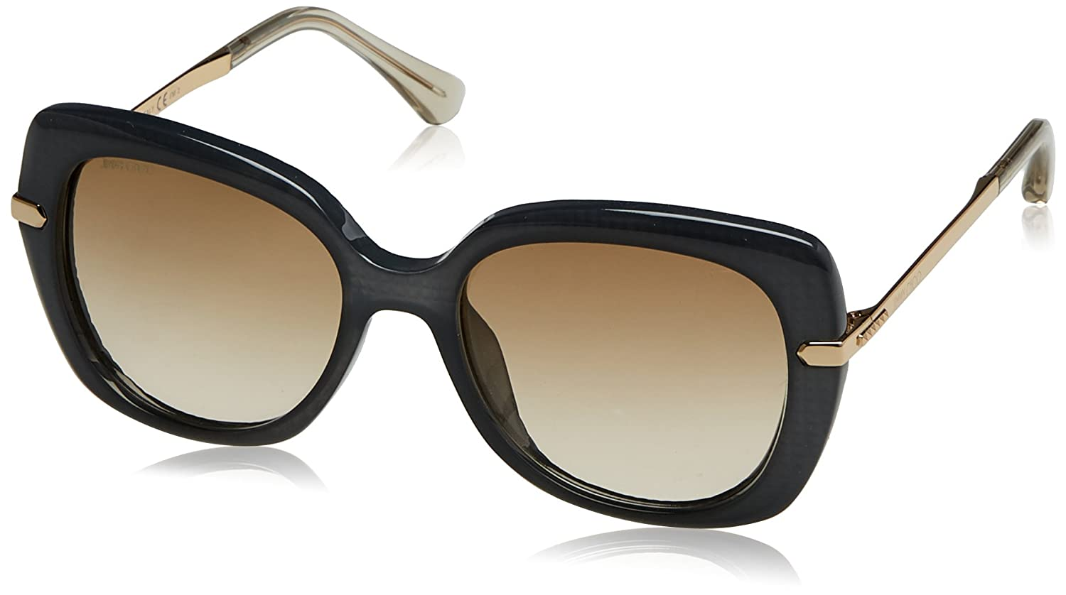 a9a370c1313 Jimmy Choo Ludi S 0OOK Gray Rose Gold Square Sunglasses at Amazon Men s  Clothing store