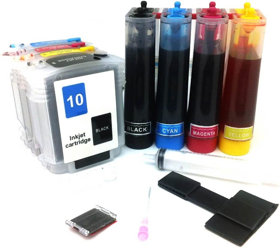 CISinks Continuous Ink Supply System CISS for HP 10/11 Printers - OfficeJet 9110 9120 9130 K850 BusinessJet 1000 1100 1200 1300 2200 2600 CP 1700 2280 2250 2230 2300 2600 2800 DeskJet 70 100 110 2000 - CIS