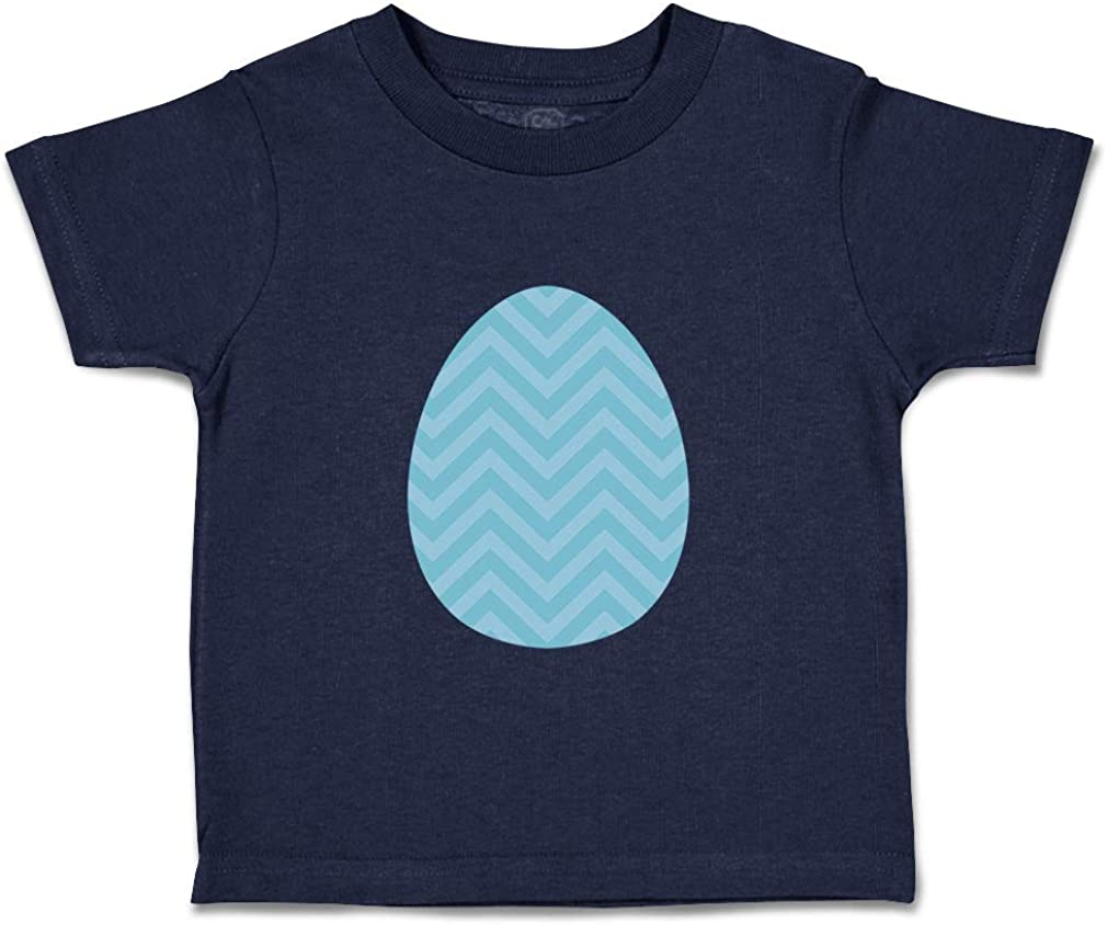 Custom Baby /& Toddler T-Shirt Blue Egg Lines Cotton Boy Girl Clothes
