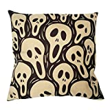 """Sunlightsell Stylish Simplicity Cotton Linen Square Decorative Fashion Throw Pillow Case Cushion Cover-Black White Skull 18 """"X18 """" (S001G)"""