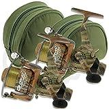 2 x NGT camo40 carpe GRATUIT RUNNER 3BB moulinet de pêche avec 12lb fil + bobine de rechange + étui