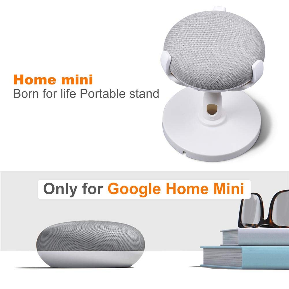 White TODAYTOP Portable Desktop Mini Speaker Stand-Improves Sound Reception and Appearance Round Speaker Accessories for Google Home Mini Pedestal