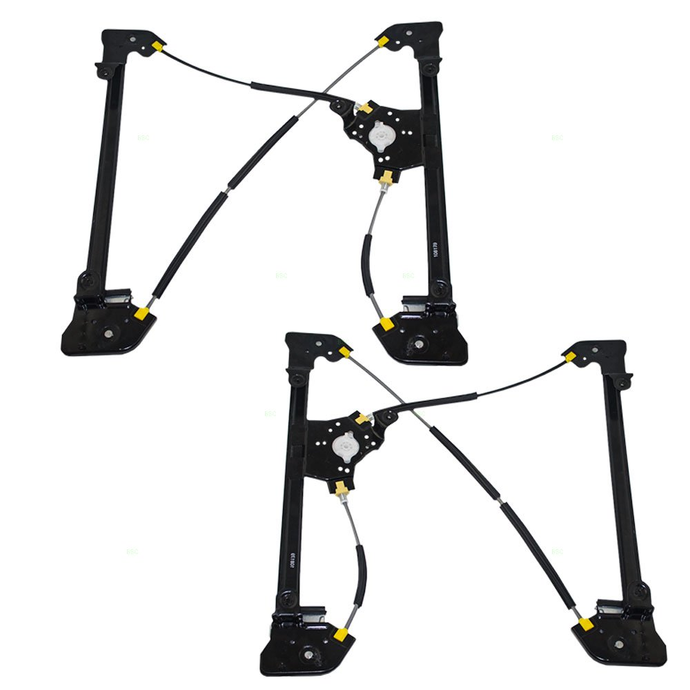 Driver and Passenger Front Power Window Lift Regulators Replacement for Ford SuperCab Pickup Truck 6L3Z1823201BA 6L3Z1823200BA