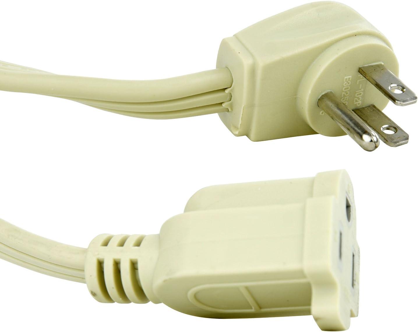 Sunlite 04160-SU EX12/AP Heavy Duty Appliance Extension Cord, Three Prong, 14/3 Gauge, 15 Amp, 12', Beige