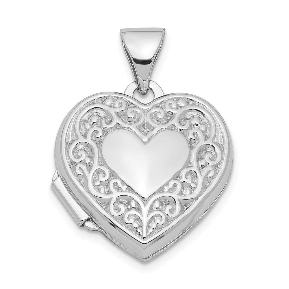 925 Sterling Silver Heart Photo Pendant Charm Locket Chain Necklace That Holds Pictures Fine Jewelry Gifts For Women For Her by ICE CARATS
