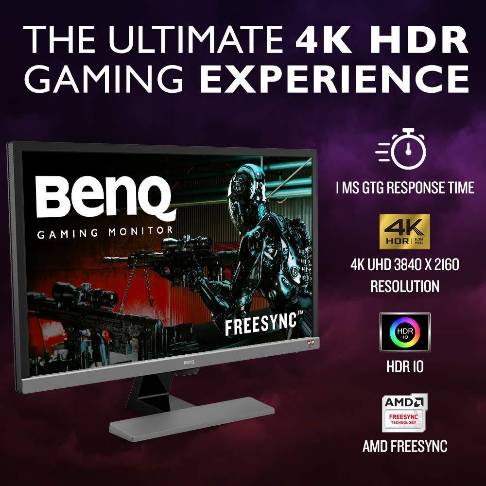 BenQ 28 inch 4K HDR Gaming Monitor (EL2870U), UHD, 3840x2160, Free