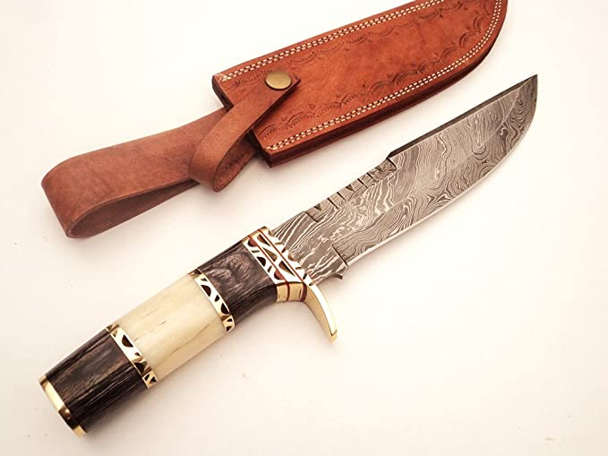 Amazon.com: dkc-819 Capella Bowie Acero de Damasco cuchillo ...