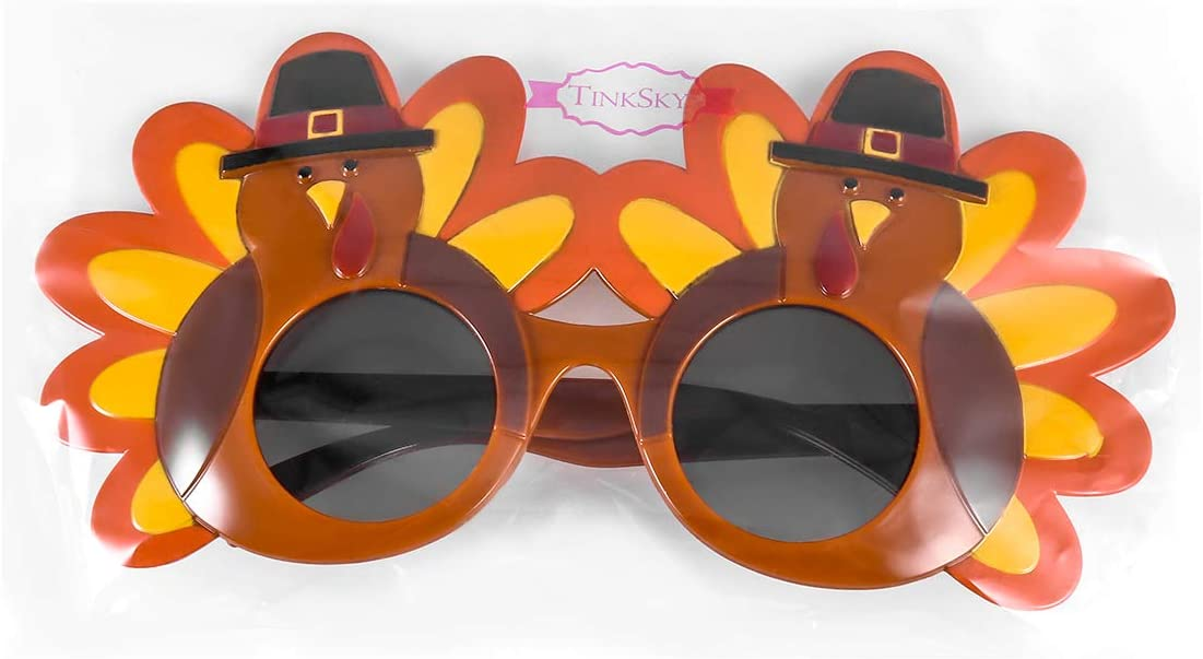 Creative Turkey Glasses Thanksgiving Eyeglasses Cartoon Sunglasses for Thanksgiving Party Glasses