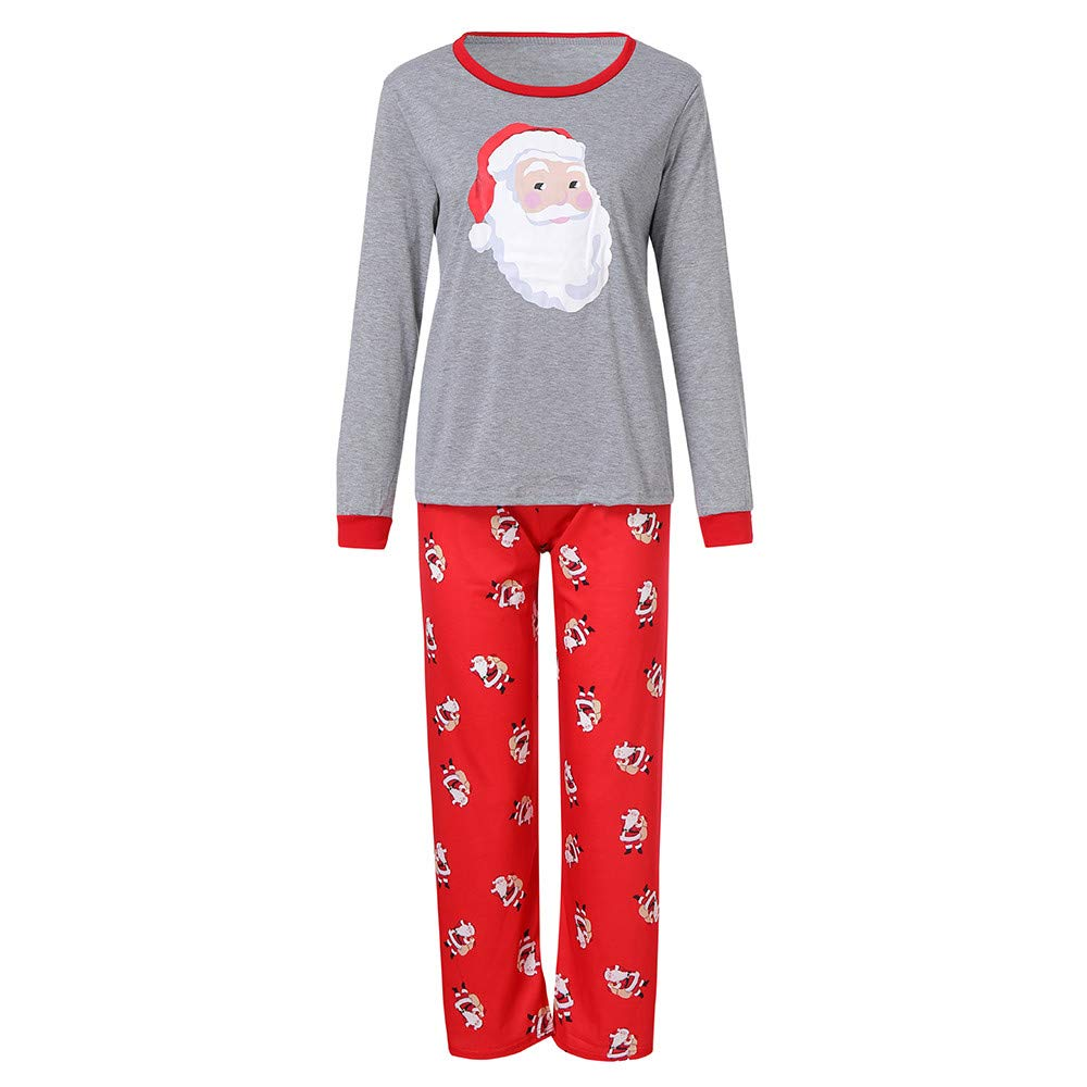 FeiliandaJJ Family Christmas Matching Pyjamas, Father Mother Children Kids Baby Xmas Sleepwear Clothes Set Outfits