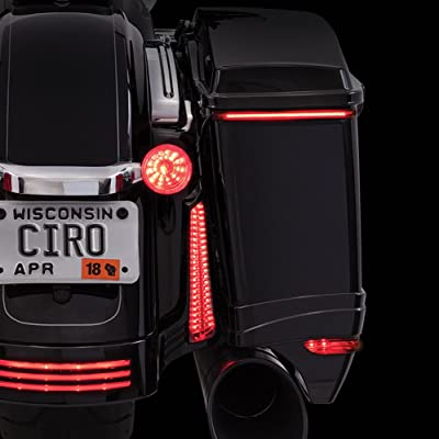 Ciro Bag Blades Low Profile LED Lights '14-up Harley w/Controller, Amber 40008: Ciro: Automotive