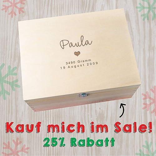 Erinnerungsbox Baby Madchen Personalisiert Geschenk Fur Taufe