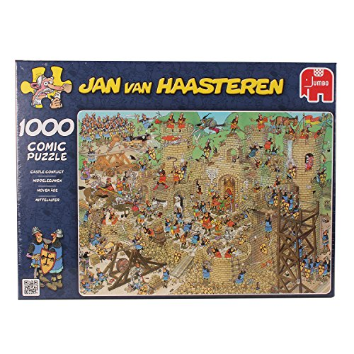 Jan Van Haasteren Castle Conflict Jigsaw Puzzle (1000 Pieces)