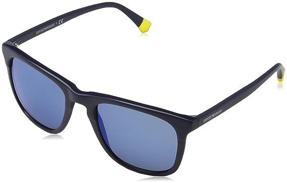 Emporio Armani 4105 Gafas de sol, Matte On Blue 559655, 53 ...